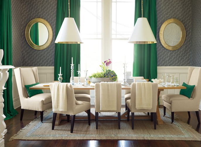 Serena & Lily Malachite Green Dining Room