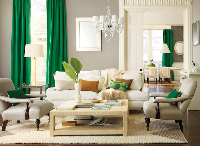Serena & Lily Malachite Green Living Room